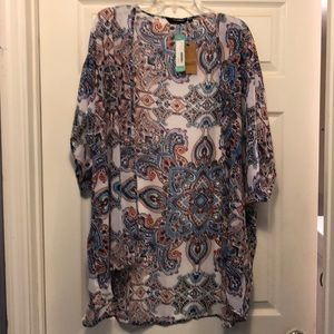 Open kimono shirt